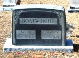 Francis Marion and Susan Rebecca Rowell Boatwright Gravestone