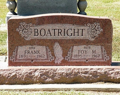 Frank Alex and Foy Malinda Murphy Boatright Gravestone