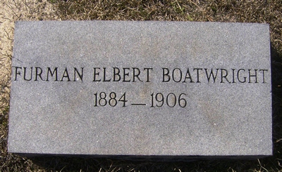 Furman Elbert Boatwright Gravestone