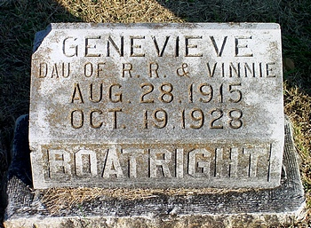Genevieve Boatright Gravestone