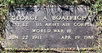 George Albert Boatright Marker