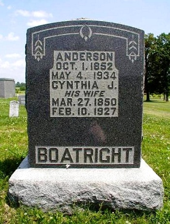 George Anderson Boatright and Cynthia Jane Norman Gravestone