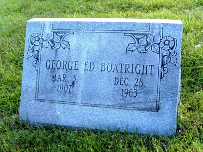 George Edward Boatright Gravestone