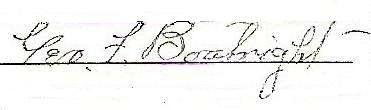 George Francis Boatright Signature: