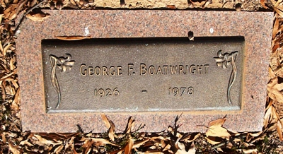 George Felton Boatwright Gravestone