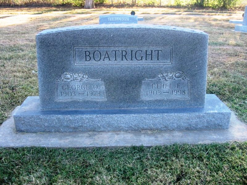 George Orville Boatright and Ethel Elizabeth Freeman Gravestone