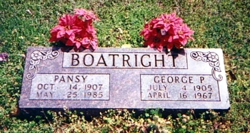 George Polk Boatright and Pansy Faye Jones Boatright Marker