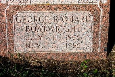 George Richard Boatwright Gravestone