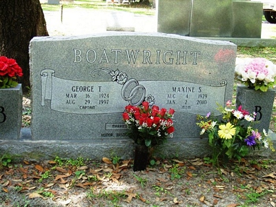 George Townsend and Maxine S. Stephens Boatwright Gravestone