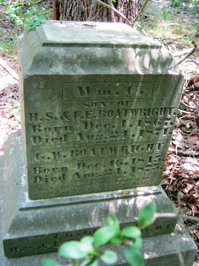 George Walton Boatwright Gravestone