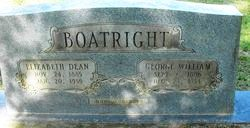 George William Boatright and Elizabeth Dean Gravestone
