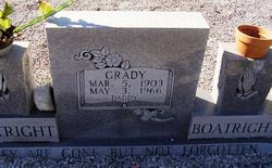 Grady Emmitt Boatright Gravestone