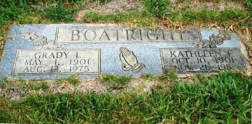 Grady Lee Boatright and Kathleen Fannie Jackson Marker