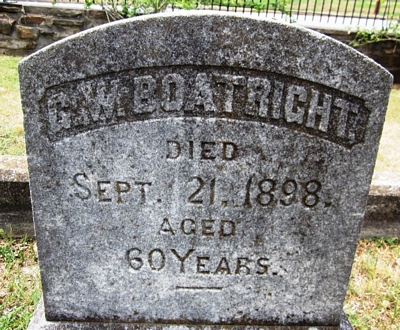 Green W. Boatwright Gravestone
