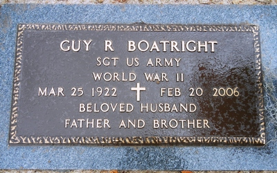 Guy Reginald Boatright Gravestone