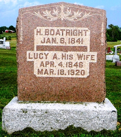 Harmon Boatright and Lucy Ann Brown Gravestone