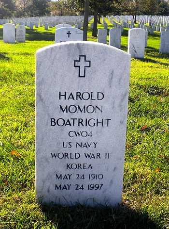 Harold Momon Boatright Gravestone: