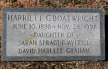 Harriett Graham Boatwright Marker