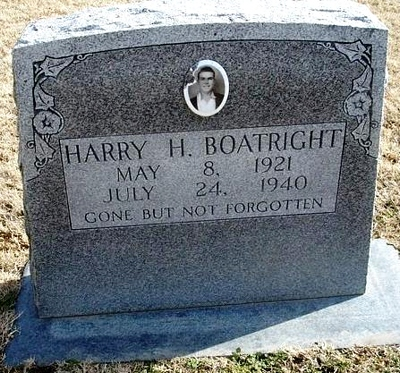 Harry Harmon Boatright Gravestone