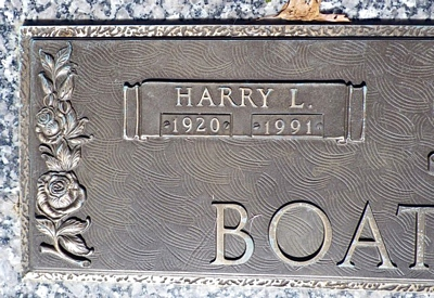 Harry Louis Boatright Gravestone