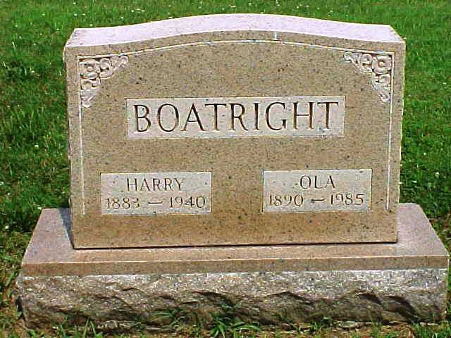 Harry Paul and Ola Mae Pass Boatright Gravestone