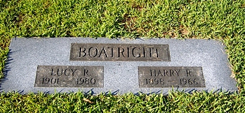 Harry Russel Boatright and Lucy Ellen Rothrock Marker