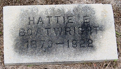Hattie Louella Edwards Boatwright Gravestone