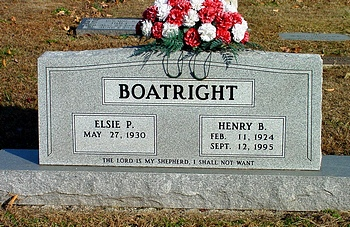 Henry Burton Boatright Gravestone