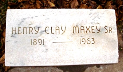 Henry Clay Maxey Marker