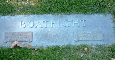Henry L. and Corine B. Boatright Gravestone