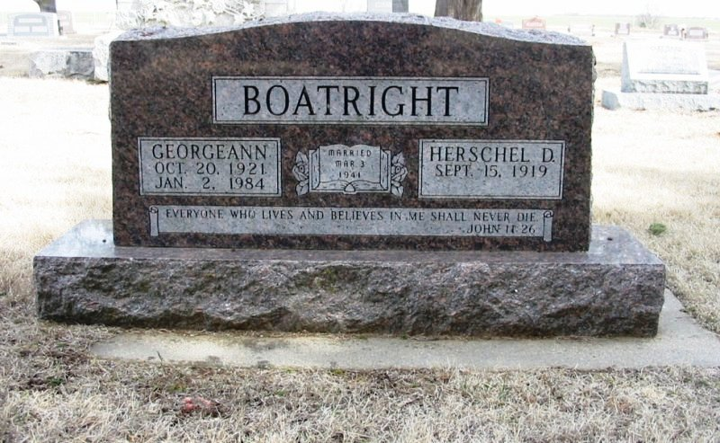Hershel D. Boatright and Georgeann Meredith Gravestone