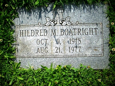 Hildred M. Holler Boatright Gravestone