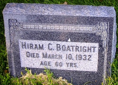 Hiram Calvin Boatright Gravestone