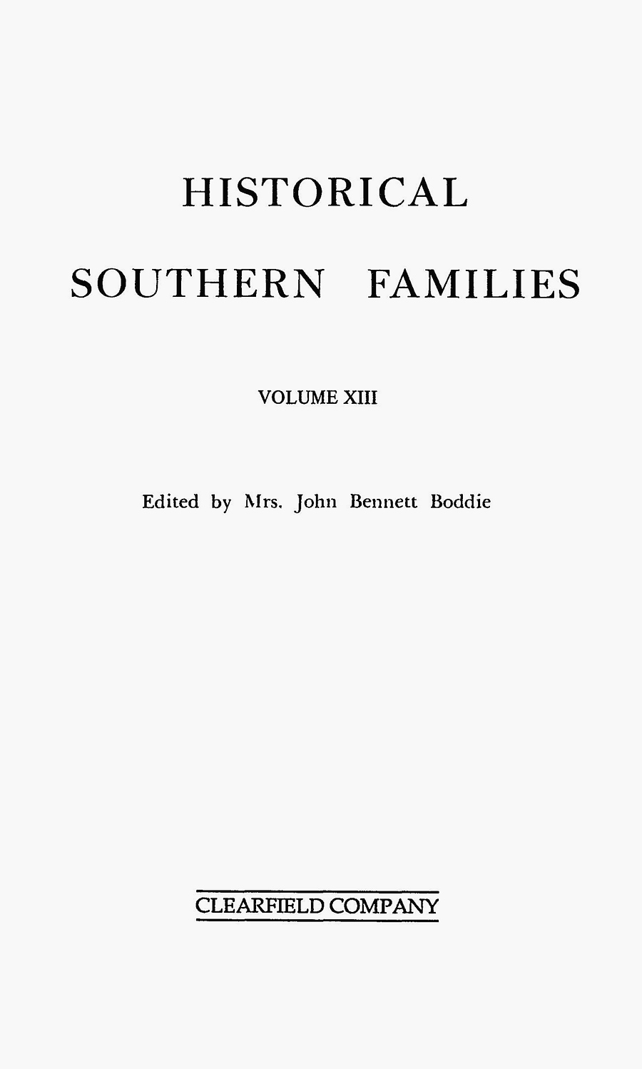 HistoricalSouthernFamilies