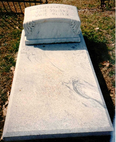 Homer Boatright Gravestone