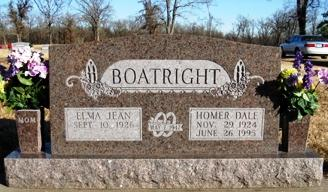 Homer Dale Boatright Gravestone