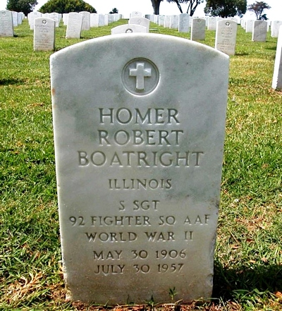 Homer Robert Boatright Gravestone
