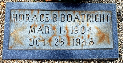 Horace B. Boatright Marker