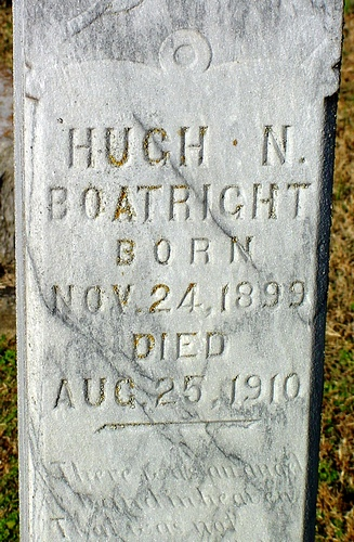Hugh Neff Boatright Gravestone