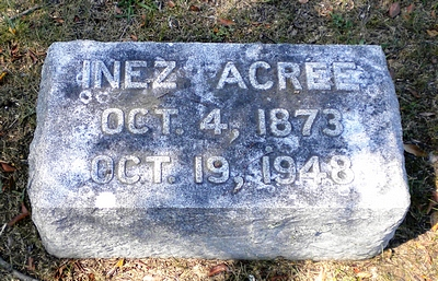 Inez Acree Boatwright Gravestone