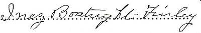 Inez Boatright Finley Signature: