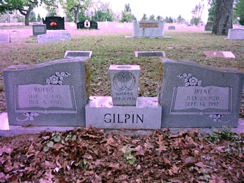 Rufas Gilpin and Irene Boatright Gravestone