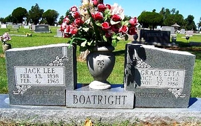 Jack Lee Boatright Gravestone
