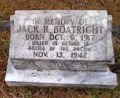 Jack Robert Boatright Gravestone