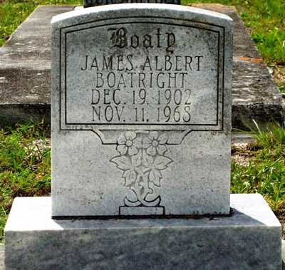 James Albert Boatright Gravestone