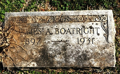 James Arthur Boatright Gravestone