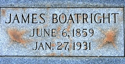 James B. Boatright Gravestone