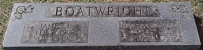 James and Dorothy Lee Boatwright Gravestone