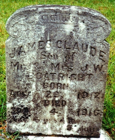 James Claude Boatright Gravestone
