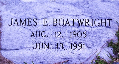James Edgar Boatwright Gravestone